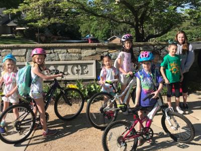 CRES students bike to school day