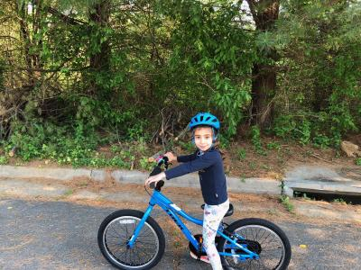 CRES students on Bike to School Day