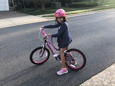 CRES students on bike to school days